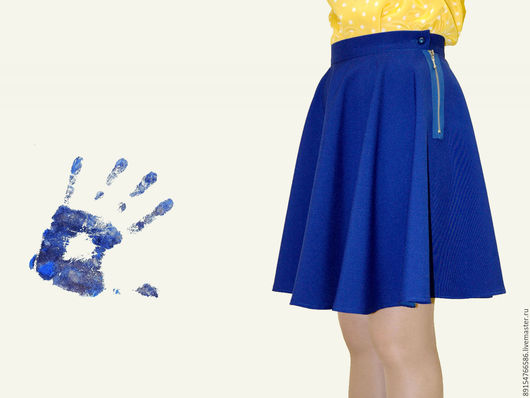 Юбки ручной работы. Ярмарка Мастеров - ручная работа. Купить юбка-солнце. Handmade. Синий, юбка солнце, юбка на поясе