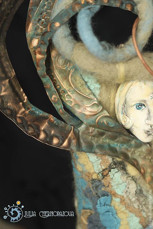 """Коллекционные куклы ручной работы. Ярмарка Мастеров - ручная работа. Купить """"Стихиаль воздуха"""" авторская кукла. Handmade. Декор для интерьера"""