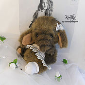 Teddy Toys handmade. Livemaster - original item Baby elephant Teddy Izzy. Handmade.