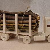 Куклы и игрушки ручной работы. Ярмарка Мастеров - ручная работа камаз-лесовоз. Handmade.