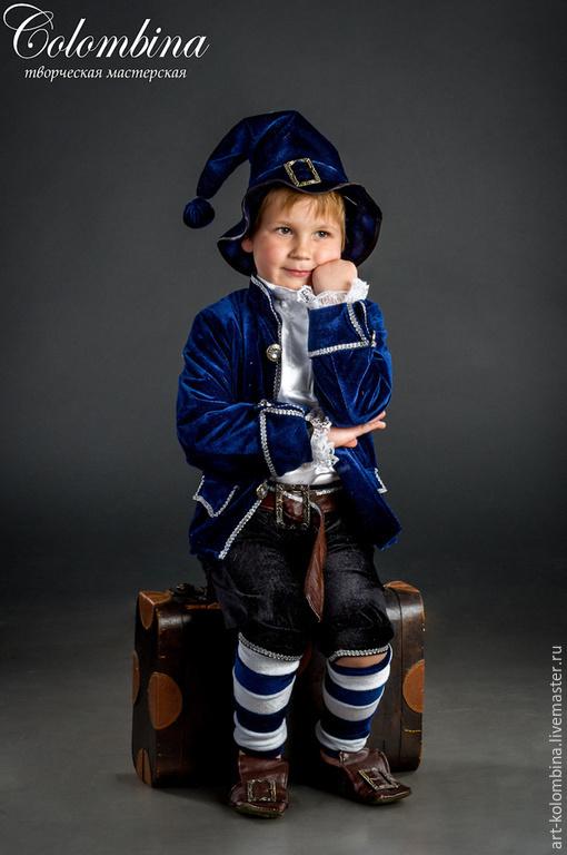 Детские карнавальные костюмы ручной работы. Ярмарка Мастеров - ручная работа. Купить костюм гнома. Handmade. Тёмно-синий