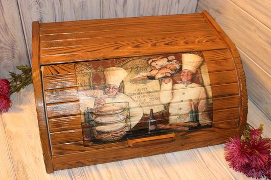 """Кухня ручной работы. Ярмарка Мастеров - ручная работа. Купить Хлебница """"Повара"""". Handmade. Коричневый, обжиг"""
