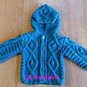 Работы для детей, handmade. Livemaster - original item Coat with knitted hood .. Handmade.