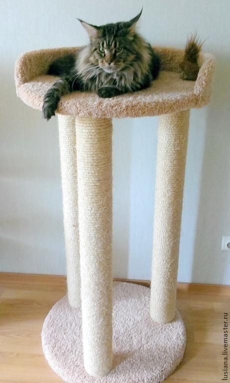 """Аксессуары для кошек, ручной работы. Ярмарка Мастеров - ручная работа. Купить когтеточка """"Мечта """" (подходит крупным кошкам). Handmade."""