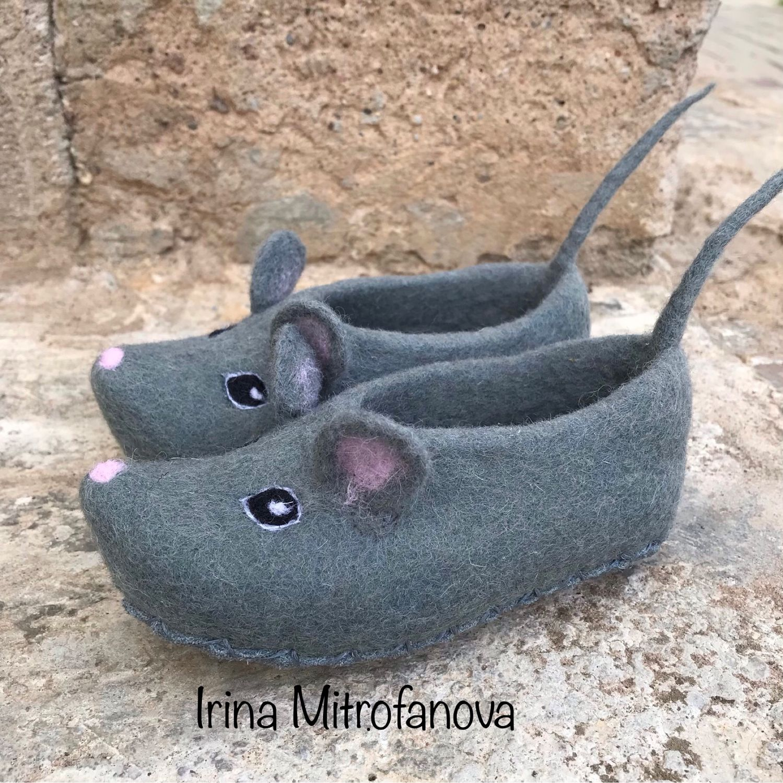 Тапочки «Мышки», Обувь, Боровичи, Фото №1