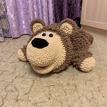 Для дома и интерьера ручной работы. Ярмарка Мастеров - ручная работа Мишка вязанный подушка игрушка. Handmade.