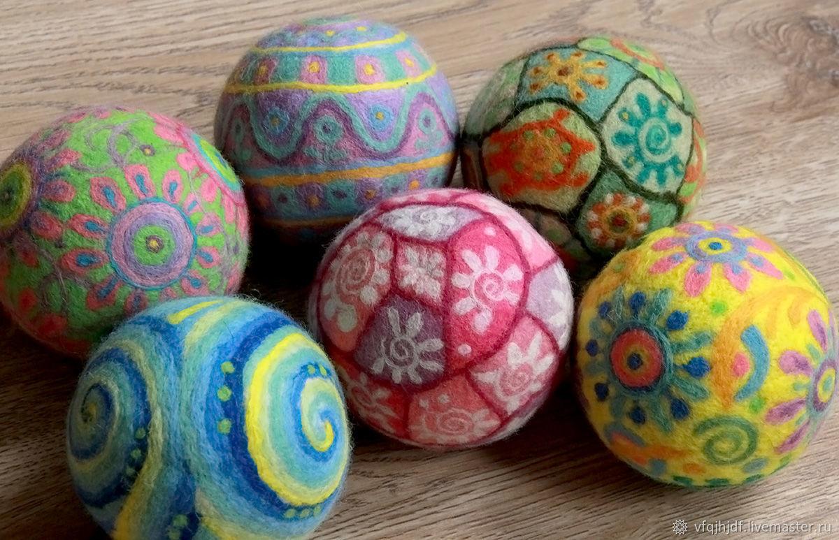 Детские мячики из шерсти – заказать на Ярмарке Мастеров – 6LIDFRU | Войлочная игрушка, Москва