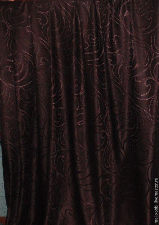 Текстиль, ковры ручной работы. Ярмарка Мастеров - ручная работа. Купить шторы для гостинной молочный шоколад. Handmade. Шоколадный цвет