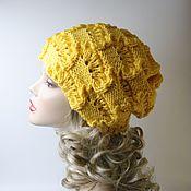 Аксессуары handmade. Livemaster - original item Beanie boho hat openwork yellow. Handmade.