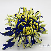 Brooches handmade. Livemaster - original item Velvet chrysanthemum