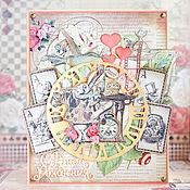 """Открытки ручной работы. Ярмарка Мастеров - ручная работа Открытка """"Алиса в стране чудес"""". Handmade."""