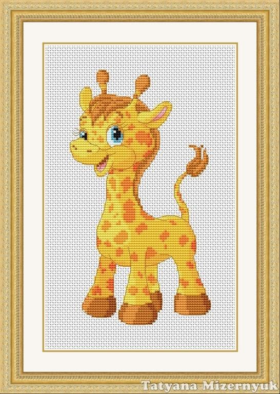 Жирафы схема вышивка крестиком