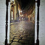 Картины и панно ручной работы. Ярмарка Мастеров - ручная работа Ночная улочка. Handmade.