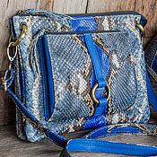 Сумки и аксессуары handmade. Livemaster - original item Bag genuine Python leather Natalie. Bag made of Python. Handmade.