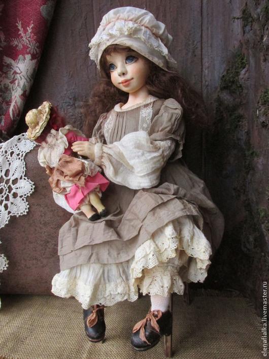 Коллекционные куклы ручной работы. Ярмарка Мастеров - ручная работа. Купить Козетта. Handmade. Бежевый, состаренный стиль, Ладол