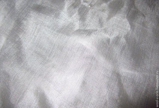 Другие виды рукоделия ручной работы. Ярмарка Мастеров - ручная работа. Купить Белый шёлк-газ 65 см. Блестящий. Handmade.