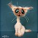 Игрушки животные, ручной работы. Сиамский кот. Ирина Логутова. Ярмарка Мастеров. Сиам, связано крючком, проволочный каркас
