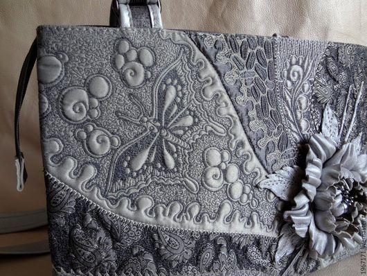 Женские сумки ручной работы. Ярмарка Мастеров - ручная работа. Купить А бабочка крылышками ....... Handmade. Серебряный, на длинной ручке