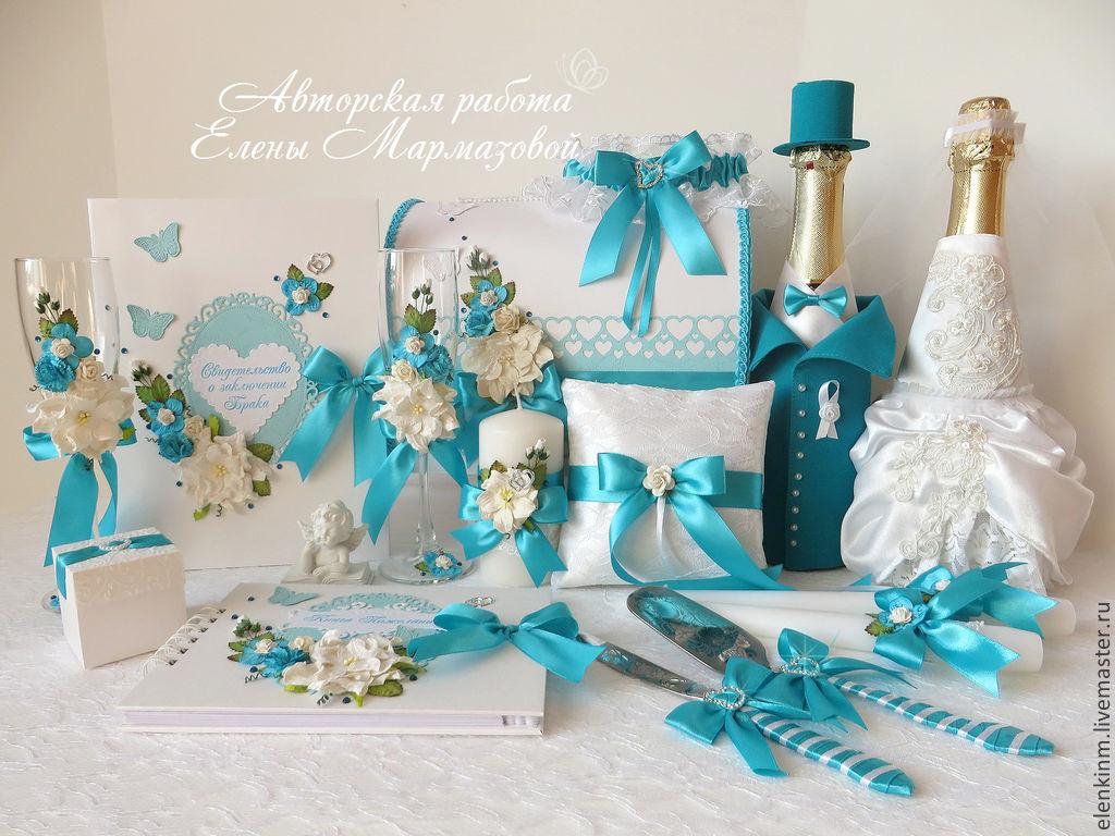 Свадебные наборы ручной работы фото
