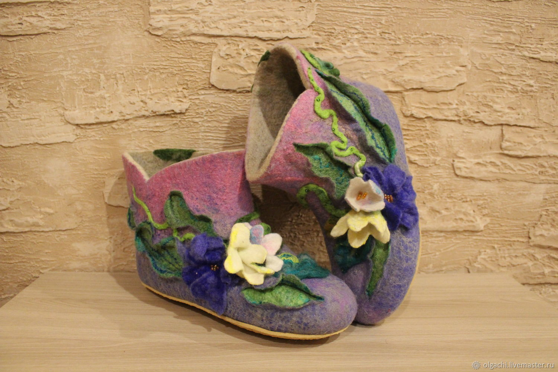 Обувь ручной работы. Ярмарка Мастеров- ручная работа. Купить. Тапочки валяные.Handmade.