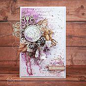 """Открытки ручной работы. Ярмарка Мастеров - ручная работа Открытка """"Часы 12 бьют"""". Handmade."""