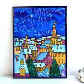 Картины и панно handmade. Livemaster - original item panels, silk batik