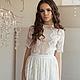 Платья ручной работы. Ярмарка Мастеров - ручная работа. Купить Платье SS15. Handmade. Белый, платье летнее, платье длинное
