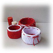 Для дома и интерьера ручной работы. Ярмарка Мастеров - ручная работа Набор трикотажных корзинок. Handmade.