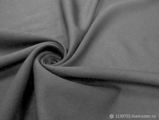 Шитье ручной работы. Ярмарка Мастеров - ручная работа. Купить ткань костюмная вискоза  сатин черн.. Handmade. Черный