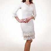 Одежда ручной работы. Ярмарка Мастеров - ручная работа Платье вязаное 4451. Handmade.