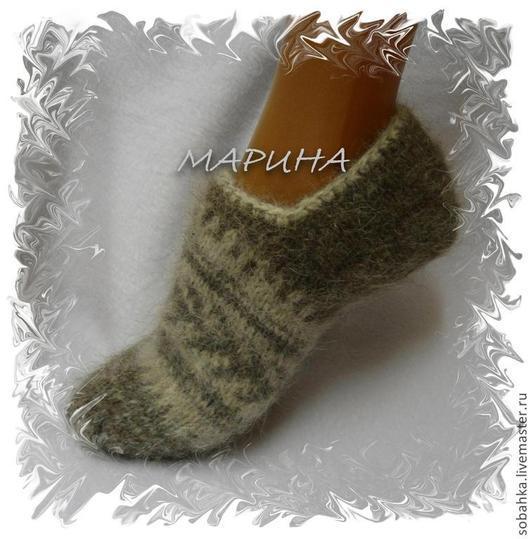 Носки, Чулки ручной работы. Ярмарка Мастеров - ручная работа. Купить СЛЕДОЧКИ собачий пух носки. Handmade. Однотонный, нсочки