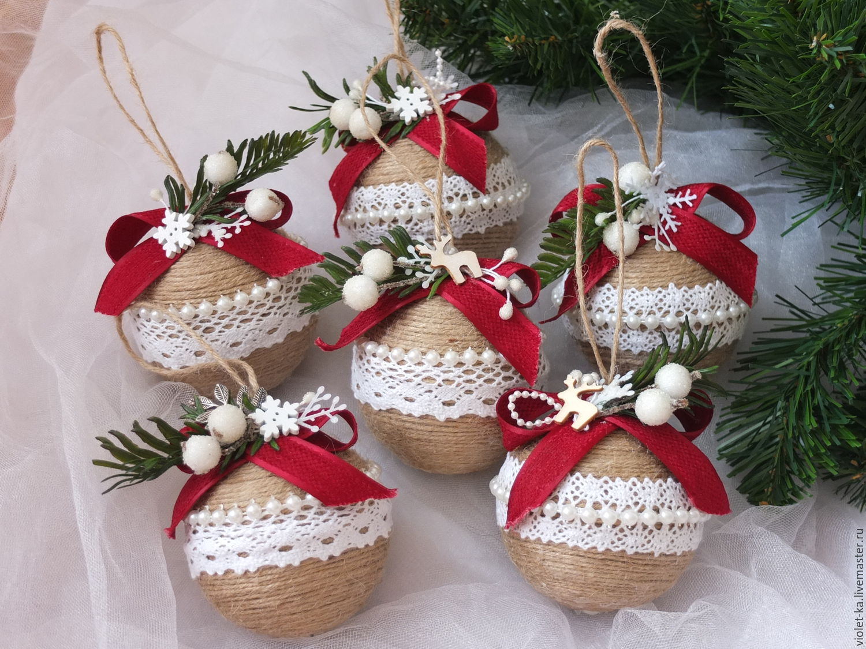 шары из пенопласта на елку своими руками