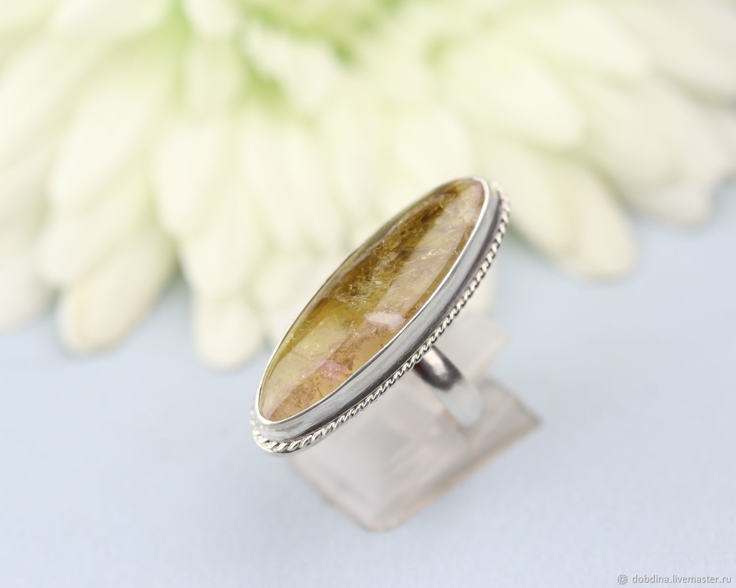 Ring with tourmaline. Silver, Rings, Moscow,  Фото №1