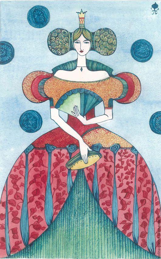 Символизм ручной работы. Ярмарка Мастеров - ручная работа. Купить Весна. Handmade. Бирюзовый, принцесса, символизм, подарок, бумага