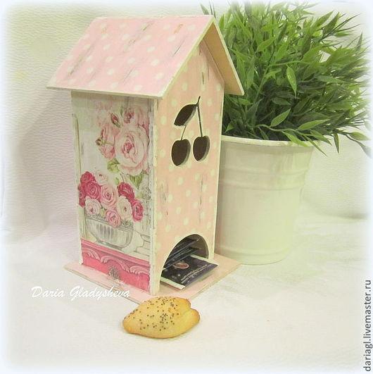 """Кухня ручной работы. Ярмарка Мастеров - ручная работа. Купить Чайный домик """"Shabby rose"""". Handmade. Бледно-розовый, чай"""