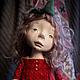 Коллекционные куклы ручной работы. Девочка в красном. Мурашова Наталья. Ярмарка Мастеров. Ярко-красный