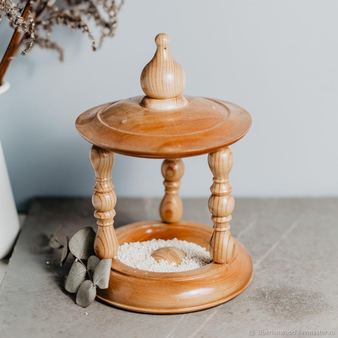 Персональные подарки ручной работы. Ярмарка Мастеров - ручная работа. Купить Кормушка для птиц из натурального дерева (кедр+береза) #F1. Handmade.
