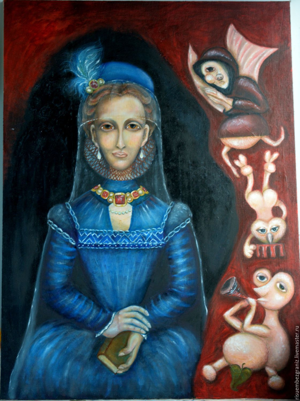 The painting `Madame Bovary` (oil on canvas). Artist Waist Murshudova