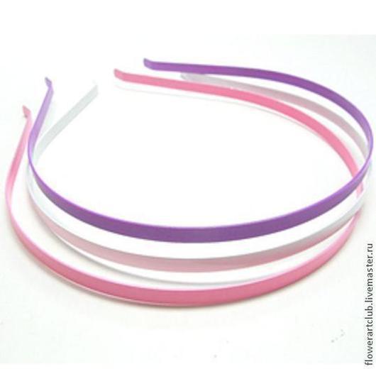Другие виды рукоделия ручной работы. Ярмарка Мастеров - ручная работа. Купить Ободок металлический 5 мм - 3 цвета (розовый, сиреневый, белый). Handmade.