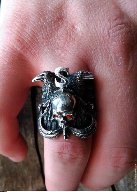 """Кольца ручной работы. Ярмарка Мастеров - ручная работа. Купить Кольцо Хранители """"Raven"""".. Handmade. Кольцо с воронами, кольцо с вороном"""
