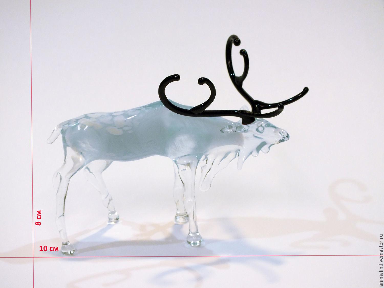 Interernaya figurita de vidrio de color de reno Vaadin – compra u ...