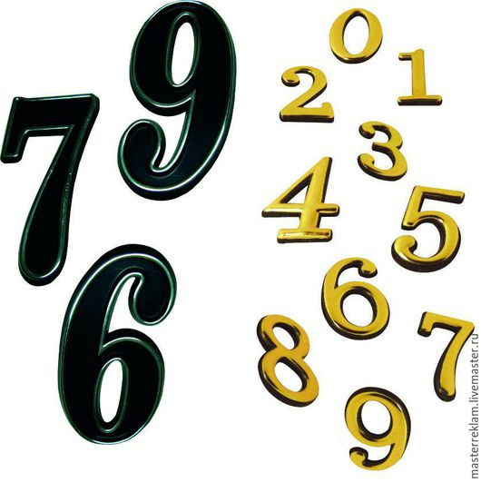 Элементы интерьера ручной работы. Ярмарка Мастеров - ручная работа. Купить цифры разные на дверь. Handmade. Дверной номер