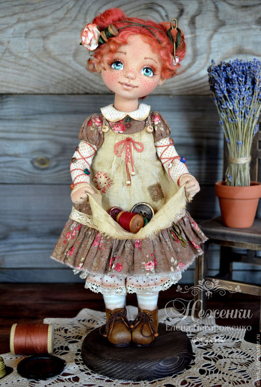 Коллекционные куклы ручной работы. Ярмарка Мастеров - ручная работа. Купить Фея Пуговка, текстильная коллекционная авторская кукла. Handmade.