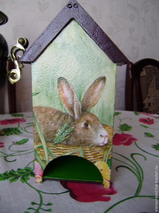 """Кухня ручной работы. Ярмарка Мастеров - ручная работа. Купить Чайный домик """"Пасхальный кролик"""". Handmade. Ярко-зелёный"""