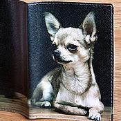 """Для домашних животных, ручной работы. Ярмарка Мастеров - ручная работа Вет.паспорт """"Чихуахуа"""" (кожа). Handmade."""