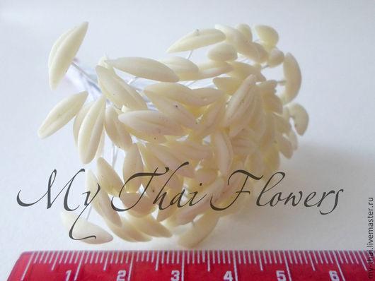Тычинки для лилий белые My-Thai.  Материалы для флористики из Таиланда.