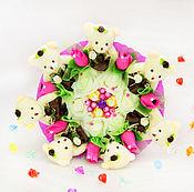 Цветы и флористика handmade. Livemaster - original item Bouquet of toys and candies