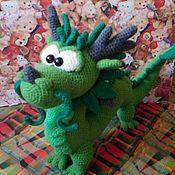 Мягкие игрушки ручной работы. Ярмарка Мастеров - ручная работа Игрушки: Дракон большой. Handmade.