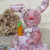 Куклы и игрушки ручной работы. Ярмарка Мастеров - ручная работа Зайка тедди Нюша 28 см с ушами. Handmade.