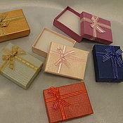 Коробки ручной работы. Ярмарка Мастеров - ручная работа Коробки: Подарочная упаковка 7х9х3  для брошей, кулонов, комплектов. Handmade.